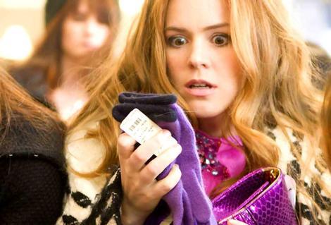 Isla Fisherin Confessions of a Shopaholic.