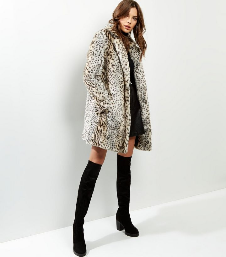 white-animal-print-faux-fur-midi-coat