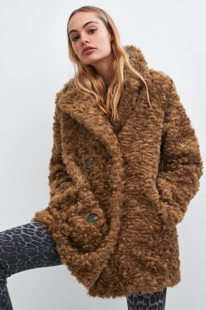 faux fur coat Zara