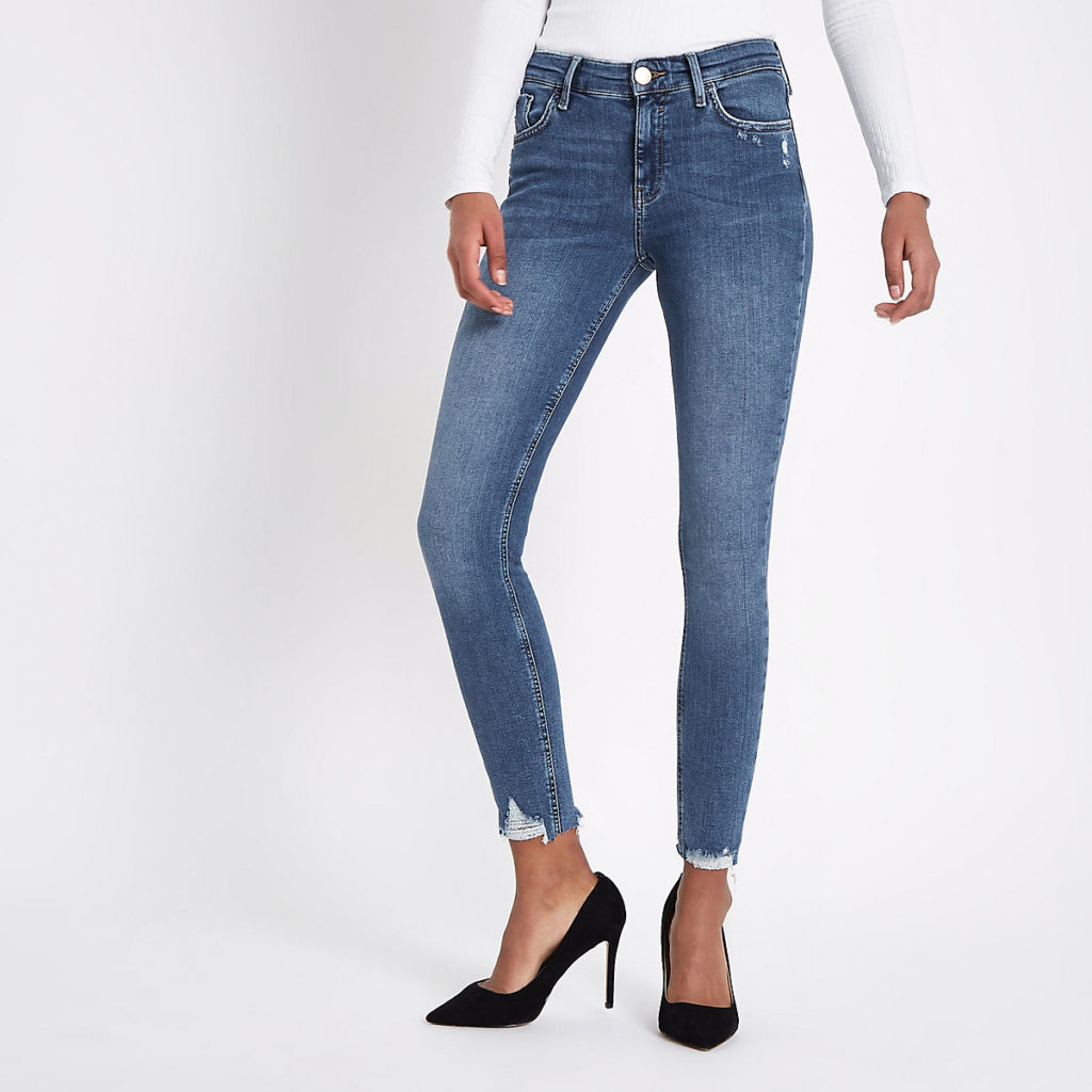 ripped skinny jeans river island